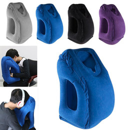 Wholesale Neck Rest Travel Pillow - Newest Inflatable Travel Pillow Creative Cars Buses Airplanes Trains Office Napping Outdoor Camping Portable Head Neck Rest Pillow WX9-173