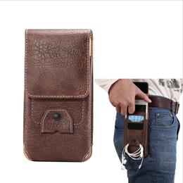 Wholesale Men Flip Phone - Universal Holster Belt Clip Waist Men Flip PU Leather Cover Bag Horizontal+Vertical Mobile Phone Case for iphone 7 6 6s plus Galaxy S8