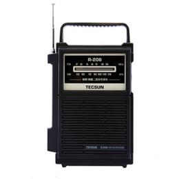 Toptan Satış - TECSUN R-206 Tam Marka AM / FM / MW / SW1-6 Multy-band Saatli Radyo Alıcısı Dijital Demodülasyon Stereo Radyo Taşınabilir Cep Boyutu cheap tecsun digital radio nereden tecsun dijital radyo tedarikçiler