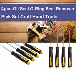 Wholesale glass picks - 4Pcs Set Durable Car Hook Oil Seal O-Ring Seal Remover Pick Set Craft Hand Tools Free Shipping