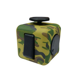 Wholesale Plastic Army Toys - 2017 Creative Fidget Cube Anxiety Stress Relief Focus Toys Gift Camouflage Blue Army Green Puzzle Cube Decompression Toy