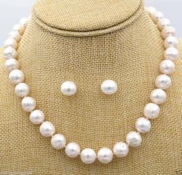 2019 i monili del sud della perla del mare si regolano Gioielli di moda 9-10 mm bianco South Sea Pearl Collana orecchino Set sconti i monili del sud della perla del mare si regolano