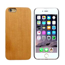 Wholesale Hard Wood Protector - Natural Wood Hard Back Case Cover Protector for Apple iPhone 6 PC Back Mobile Phone Case Cover Ultrathin Shell Back Cover Phone Case