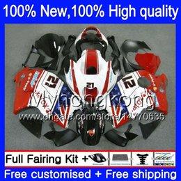 Wholesale Hayabusa Bodies - Body Bodywork For SUZUKI Hayabusa GSXR1300 96 07 GSXR-1300 15XH110 GSX R1300 2002 2003 2004 Red white GSXR 1300 2005 2006 2007 Fairing kit
