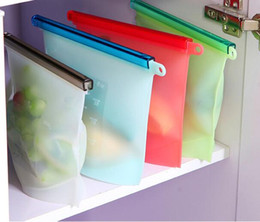 Wholesale Vaccum Sealer - Reusable Silicone Vacuum Food Sealer Bags Wraps Fridge Food Storage Containers Refrigerator Bag Kitchen Colored Ziplock Bags