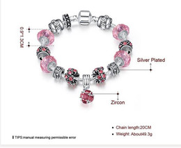 Wholesale Steel Pandora Charms - Wholesale Luxury Style Charm Bracelet Colorful Charming Chamilia Beads Bracelets with Pandora for Women Fashion Jewelr Strands