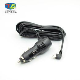 2019 usb-порт зарядки usb Оптовая продажа-DC 12 В 24 В до 5 в 5A USB автомобильное зарядное устройство адаптер для смарт-телефона GPS автомобильный видеорегистратор автомобиль зарядки с 3,5-метровый кабель Mini USB порт дешево usb-порт зарядки usb