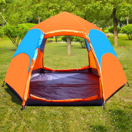 Wholesale Two Person Camping Tent - Auto Camping Instant Tent Outdoor Hand Tossed Lounge Tent Blue Bright Green Colors Two Size Available Fashion Design For Camping 3-5 Person