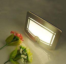 Wholesale Motion Porch Lights - Wireless Infrared Motion Sensor Wall LED Night Light Novelty Battery Powered Porch Night Lamp Motion Sensor Light
