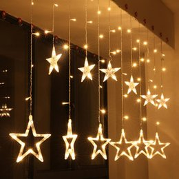 Wholesale Bulb Tree - 2.5M Bulbs Globes Balls Five-pointed Star Fairy String Lights LED Lamps Holiday Decors Christmas Party Decor