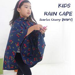 Wholesale Rain Ponchos For Kids - S M L Folding Floral Dirt-proof Kids Rain Poncho Hooded Raincoat For Children Waterproof Rain Coat Outdoor Rainwear