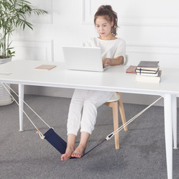 Wholesale Office Foot - Foot Hammock Mini Feet Rest Stand Portable Office Lazy People Desk Footrest Leisure Chair Fashion Table Hang Solid Color 22pn F R
