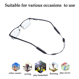 Wholesale Eyeglasses Child - Adjustable Silicone Eyeglass Neck Strap Rope Retainer Holder for Adult and Children