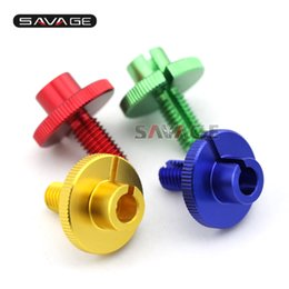 Wholesale Yamaha R6 Gold - For YAMAHA YZF R1 R6 YZF-R6 YZF-R1 YZF600 R6 S Gold Blue Red Green Motorcycle CNC Billet Clutch Cable Wire Adjuster M10x1.5