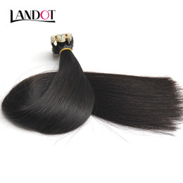 Wholesale Straight Remy Hair Wefts - Tape In Human Hair Extensions 10A Original Natural Raw Virgin Remy Brazilian Peruvian Indian Malaysian Skin Wefts PU Tape Hair Natural Color