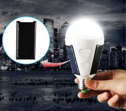 Wholesale Led Bulbs For Camping - Wholsale 5 pieces 7W LED Solar Energy Emergency Lights Screw Globe Bulbs E27 for Home use ourdoor camping