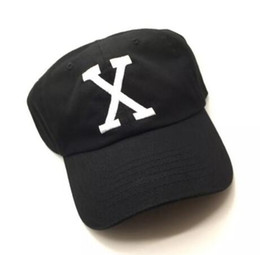 Wholesale Malcolm X Hat - Malcolm X Hat Brand New Black Custom Unstructured Malcolm Baseball Cap Dad Hat 90s X Logo (BY ANY MEANS NECESSARY) Men Women Snapback caps