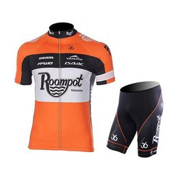 Wholesale Popular Bicycle - 2015 Roompot Cycling Jersey Short Sleeve bib shorts set popular summer style maillot Bicycle Team Ropa ciclismo MTB Bicycle Cycling clothing