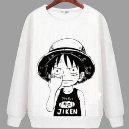 Wholesale Cartoon Characters Sweaters - One piece hoody Monkey D luffy sweatshirt Autumn keep warm hoodies Cartoon sweat shirt Quality sweater
