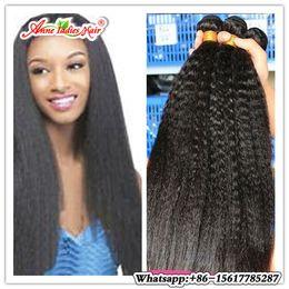 Wholesale 1pcs Malaysian Weave - Brazilian Yaki Straight Hair Bundles Natural Color 100% Human Hair Weaving 1pcs Light Yaki Weave non remy Free Ship