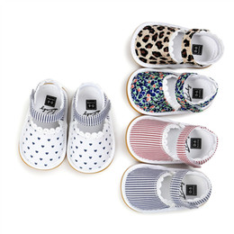Wholesale Sandal Kids - Baby First Walkers Summer Sandals Cotton Fabric Lace Soft Bottoms Kids Soft Sole Infant Printed Stripe Shoes