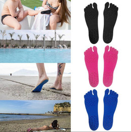Wholesale Outdoor Nakefit Soles Summer Invisible Beach Shoes Colors Sizes Nakefit Foot Feet Pads Stick On Soles Yoga Pads OOA2082