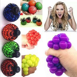 Wholesale Gadget Fun - 20pcs lot Anti Stress Ball Novelty Fun Splat Grape Venting Balls Squeeze Stresses Reliever Toy Funny Gadgets Gift