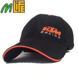 Wholesale Black Riding Hat - Racing Cap Latest motor GP KTM Racing Cap Motocross Riding Caps Women Men Casual Adujustable hat Baseball Sport Outdoor Cap motorcycle hat