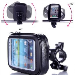 Wholesale Apple Iphone 4s Phone Support - Motorcycle Bicycle Phone Holder Mobile Phone Stand Support for iPhone 5 5S 5C 4S 6 Plus GPS Bike Holder with Waterproof Case Bag