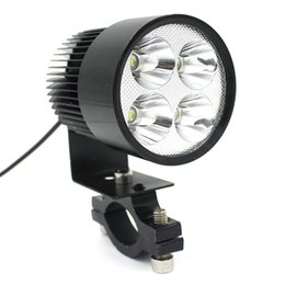 Wholesale Motorcycle Led Headlight Kits - LEEWA 12V-85V Universal Motorcycle E-bike 20W LED Modified Headlight Lamp Black SKU:1710