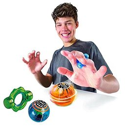 Wholesale Big Magnetic - Wallfire Magic Speed Induction Magneto Spheres Magnetic Flashing Glowing Ball Finger Anti Stress Spinner Toys OOA3771