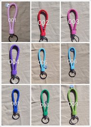 Wholesale Custom Photo Keychains - Promotional braid leather key chain With Logo braid leather key chain  Custom braid leather key chain