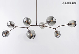 Wholesale Champagne Christmas Tree - Lindsey Adelman Chandeliers lighting modern lamp novelty pendant lamp natural tree branch suspension Christmas light hotel dinning room