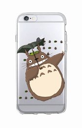 Wholesale Wholesale Iphone Anime Case - Cute Totoro Spirited Away Ghibli Miyazaki Anime Kaonashi Soft Clear Phone Case For iPhone 7 7Plus 6 6S 6Plus 5 5S SE 5C SAMSUNG