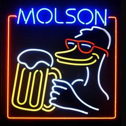 Wholesale Molson Beer - Fashion Hanscraft MOLSON Real Glass Tubes Beer Bar PubDisplay Neon Sign24x20!!!