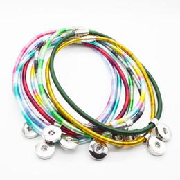 Wholesale One Direction Pendants - 10PCS Women's classic torques mixed 18mm snap button necklace boho bohemian necklaces & pendants Unisex DIY Jewelry one direction