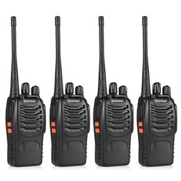 Wholesale Bf Walkie Talkie - Wholesale- 4pcs BaoFeng BF-888S Walkie Talkie UHF400-470MHZ Portable Ham baofeng 888s CB Radio