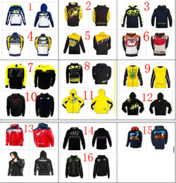 Wholesale Hoodies Shirts For Men - Free shipping 16 Clour 2017 HOT Motorcycle Motocross casual hoodie for Rossi VR46 Large 46 Factory Racing Team Moto GP sweatshirt Jackets