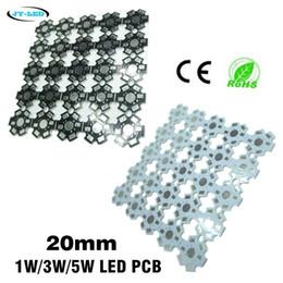 Алюминиевая опорная плита онлайн-Доска PCB светильника Сид 1W 3W 5W, базовая платина Сид 20mm алюминиевая для шариков Сид наивысшей мощности