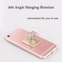 Wholesale Tablet Phone General - Wholesale-Hot General Rotate Ring Bracket Stand Luxury Metal Tablet PC Stands Unversal Phone Tablet Adhesive Bracket Stand Drop Resistance