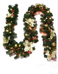 Wholesale Christmas Wreath Supplies - 280CM Christmas tremie Christmas door act the role ofing article pine a cane Christmas supplies The Christmas tree ornaments