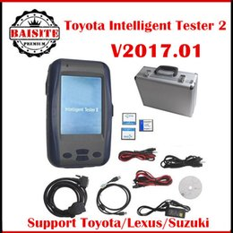 Wholesale Toyota Intelligent Ii - All Free Shipping!!Latest version 2017.01 toyota it2 intelligent tester2 ii it2 car diagnostic scanner for toyota suzuki with best price