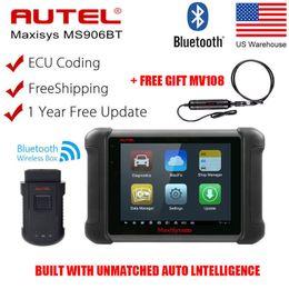 Wholesale Mazda Ford Key Programmer Scanner - Autel MaxiSys MS906BT OBD2 Bluetooth Auto Diagnostic Tool Code Reader Scanner ECU Key Coding Diagnostic Tool