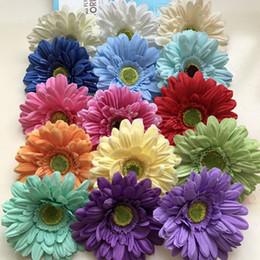Wholesale Blue Gerbera - 100pcs Silk Daisy Artificial Flowers For Wedding Home Decoration 13cm Chrysanthemum Mariage Flores Decorative Flowers Plants