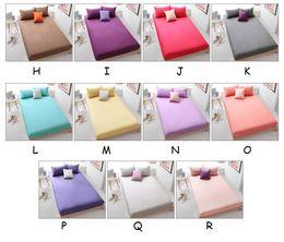 Wholesale Hotel Bedding Sets - Fahion Luxury Hotel Home Cotton Bed Sheet Set Solid Fitted Sheet Set sabanas cama Linen 3 piece Sheet set 1pc bedsheets 2pcs pillowcase