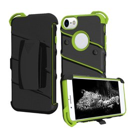 Wholesale Hybrid Kickstand Case Clip - For iPhone 7 6s 6 Plus Hybrid Armor Case With Clip Kickstand Soft TPU PC Shell Back Cover OPP Bag