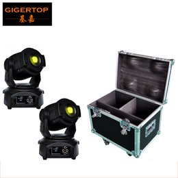 Wholesale Wholesale Head Units - Freeshipping flight case 2in1 packing with 2 units 90W led moving head light DMX512 control led stage moving head gobo lighting 16 channels