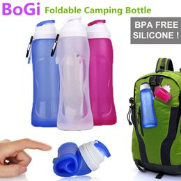 Wholesale Drop Ship Bicycle - Wholesale or Drop Ship New Style 500ML Creative Collapsible Foldable Silicone drink Sports cup Camping Car bicycle Bag bottle tumbler mug