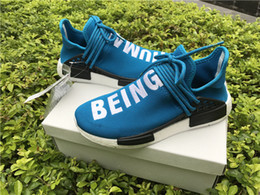 Wholesale Red Bottom Boots - Free Shopping 2017 Orange BB3070 With HUE Man Pharrell Williams X NMD HUMAN RACE Top REAL BOOST Bottom With Nipples Men Running Shoes