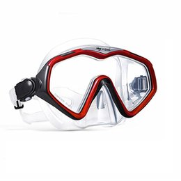 Wholesale Underwater Equipment - Wholesale- Professional Scuba diving Fog-proof mask Underwater Free Snorkeling Spearfishing Equipment optical lens Swimming goggles